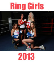 Boxing Ring Girls 2013 with Scunthorpe ABC